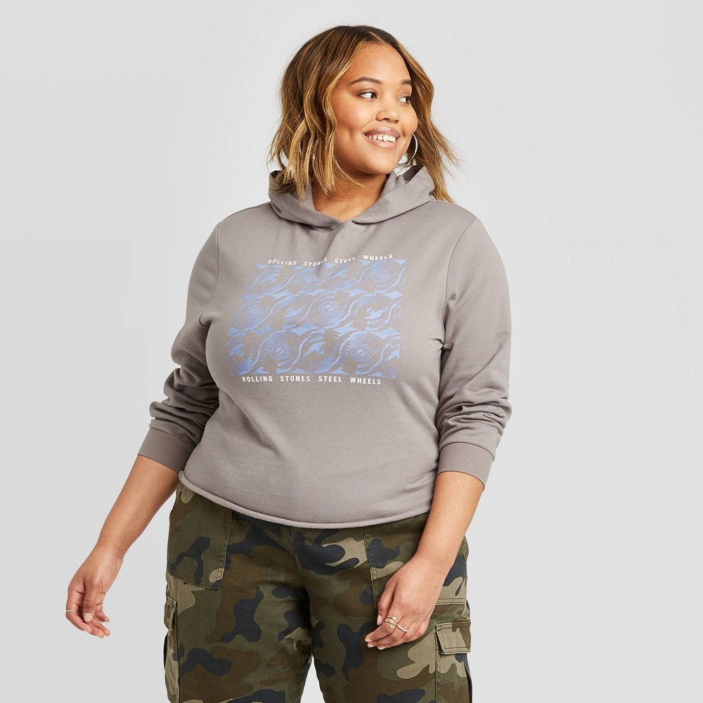 Women's Rolling Stones Plus Size Hoodie Sweatshirt - Bravado (Juniors') - Black 1X, Women's, Size: 1XL was $24.99 now $16.24 (35.0% off)