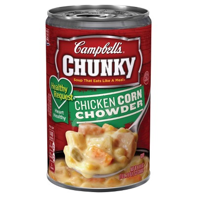 Campbell's Chunky Healthy Request Chicken Corn Chowder Soup - 18.8oz