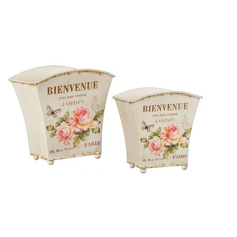 Gallerie II Rose Cache Pot  Set Of 2 - image 1 of 1