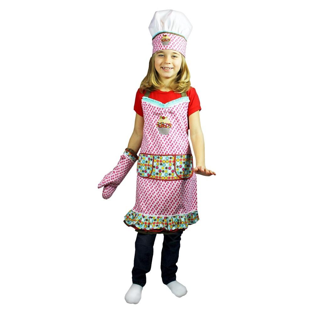 Image of 3pc Kids Chef Set Apron, Hat, Mitt - Mu Kitchen