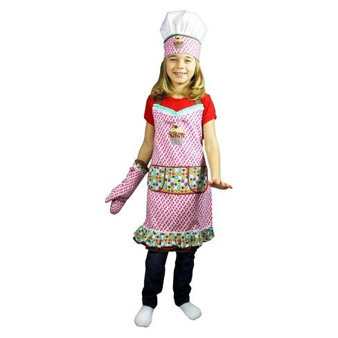 3 Piece Kids Chef Set Apron Hat Mitt Sweet Stuff Mu Kitchen