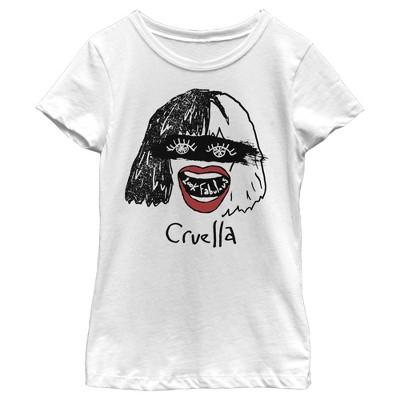Girl's Cruella Look Fabulous Drawing T-Shirt