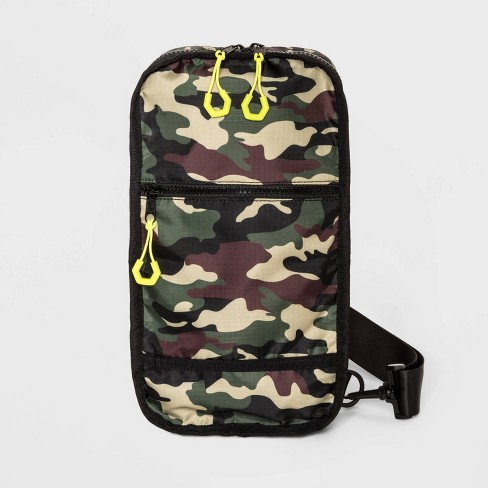 Men's Camo Print Nylon Sling Messenger Bag - Original Use™ One Size - image 1 of 3