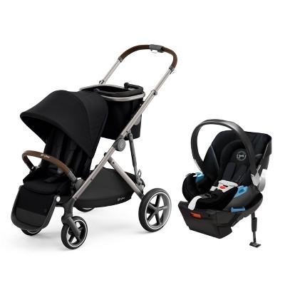Cybex Gazelle S Travel System with Aton 2 Infant Car Seat - Deep Black