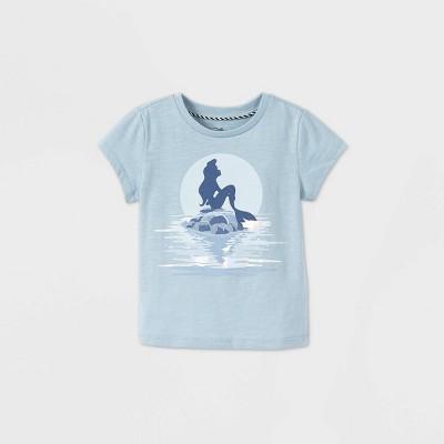 Toddler Girls' Disney The Little Mermaid Short Sleeve Graphic T-Shirt - Blue - Disney Store