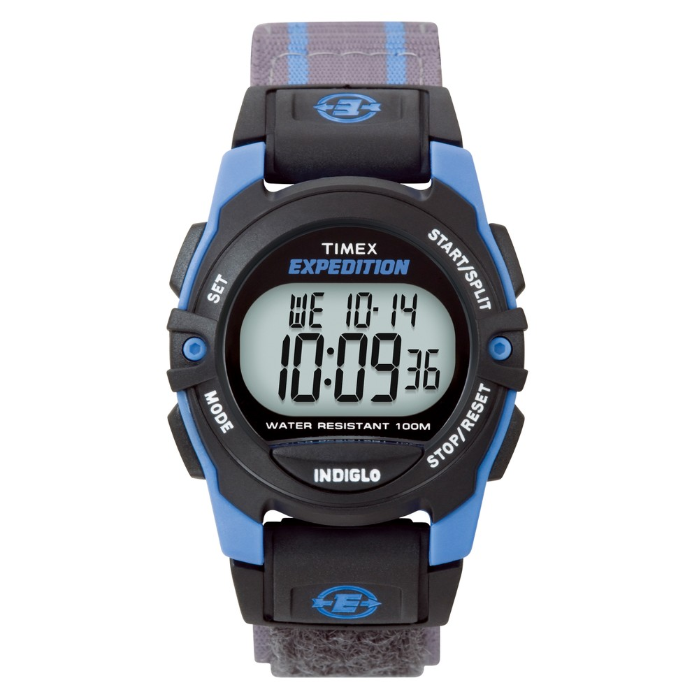 Timex Expedition Digital Watch With Fast Wrap Nylon Strap Blue Gray T49660jt