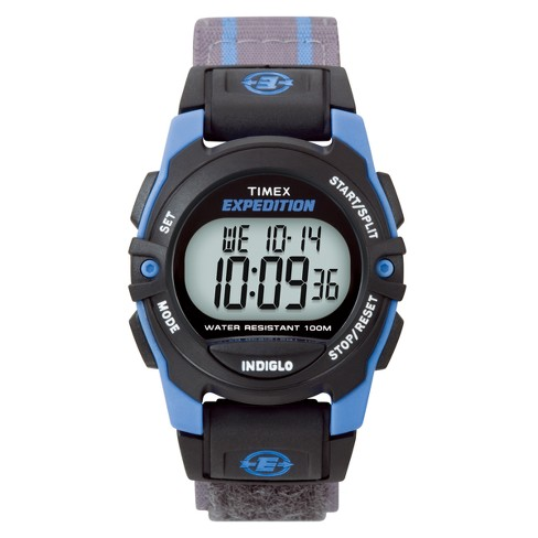 Timex Expedition® Digital Watch with Fast Wrap® Nylon Strap - Blue/Gray T49660JT - image 1 of 1