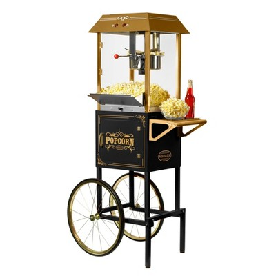Nostalgia Vintage Collection Kettle Popcorn Cart - Black CCP1000BLK