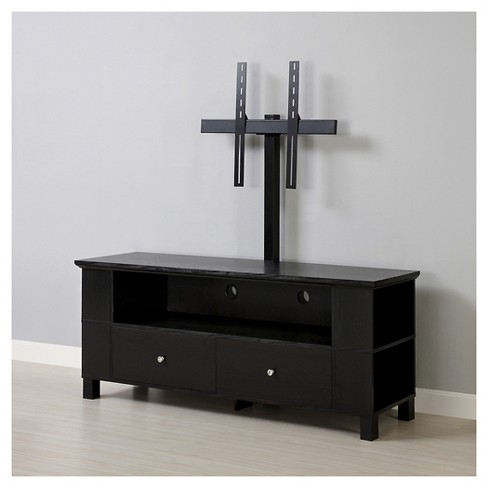 60 Wood Tv Media Stand Storage Console With Mount Black