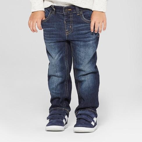 Toddler Boys' Straight Jeans - Cat & Jack™ Dark Blue - image 1 of 3