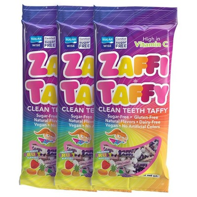 Zolli Zaffi Taffy Tropical Sugar Free Candy Triple - 3oz