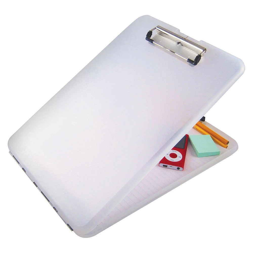 Saunders 1/2 Capacity SlimMate Storage Clipboard - Holds 8-1/2 x 12 - Clear, Clr