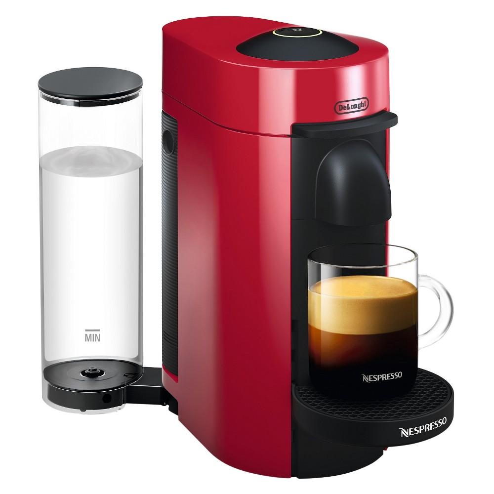 Nespresso Vertuo Plus Coffee and Espresso Machine Red by De'Longhi