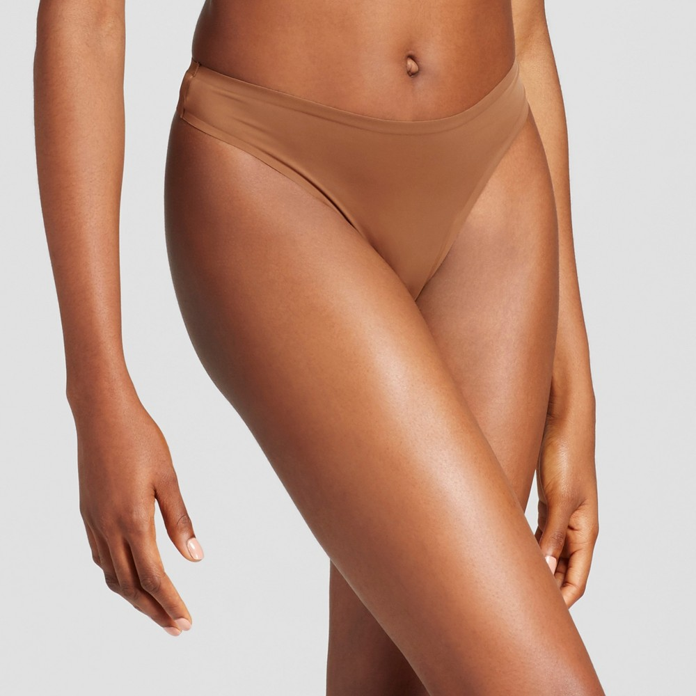 Women's Seamless Bonded Micro Thong - Cocoa (Brown) M