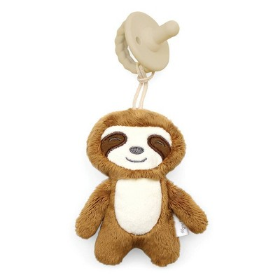 Itzy Ritzy Sweetie Pal with Pacifier Sloth - Brown