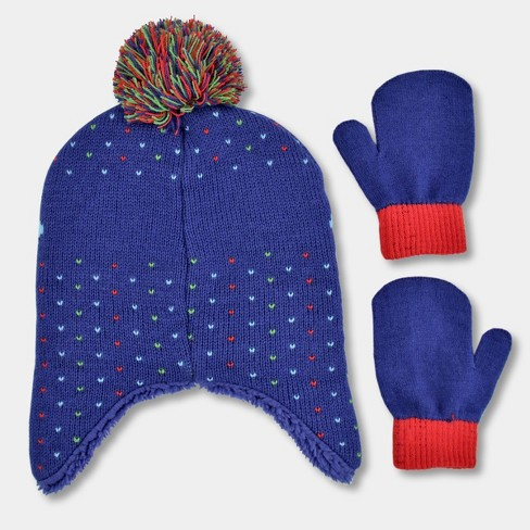 Toddler Boys  PJ Masks Hat And Mitten Set - Blue One Size   Target 576e387066f