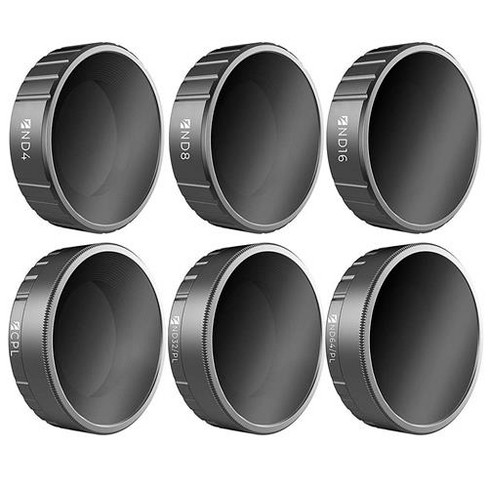 Freewell Budget Kit Includes ND4, ND8, ND16, CPL, ND32/PL, ND64/PL Camera Lens Filters for DJI Osmo Action Camera, 6-Pack - image 1 of 1