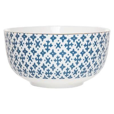 Clay Art Bowl 6in Porcelain - Blue Cross