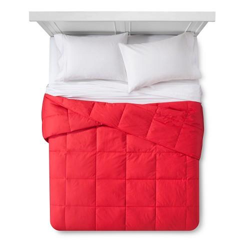 Down Alternative Bafflebox Comforter King Red Target