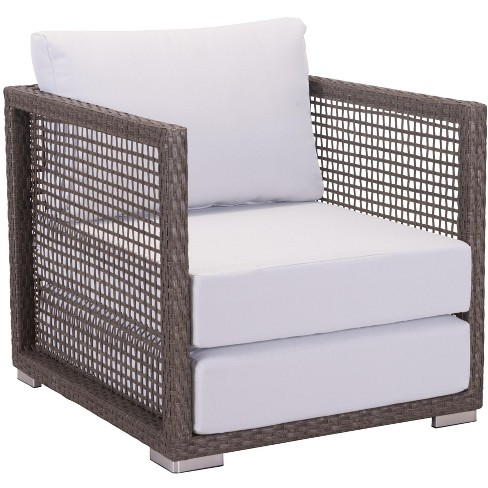 Zuo Modern Patio Furniture.Zuo Modern 703822 Coronado 27 Wide Outdoor Aluminum Frame Synthetic Wicker Accent Chair