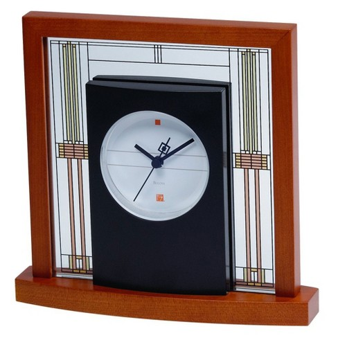 Bulova Clocks B7756 Willits Cherry Finish Glass Table Clock with Numberless Dial - image 1 of 1