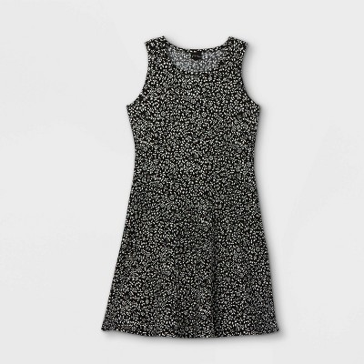 Girls' Tank Scoop Neck Rib-Knit Skater Dress - art class™