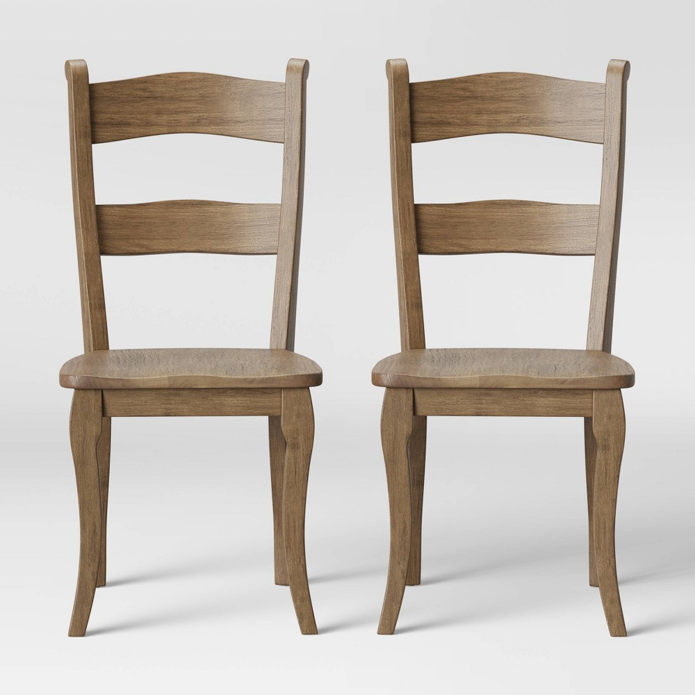Set of 2 Cloverhill Farmhouse Dining Chair Natural - Threshold