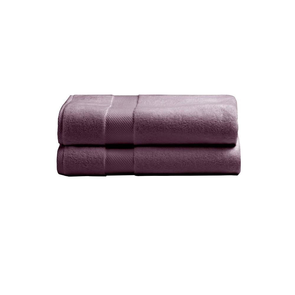 2pk Heritage American Bath Towel Set Lilac Charisma