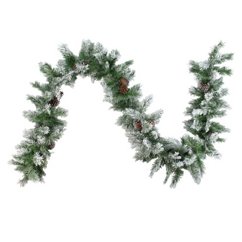 Northlight 6.75' Unlit Flocked Pinecone Angel Pine Artificial Christmas Swag - image 1 of 1