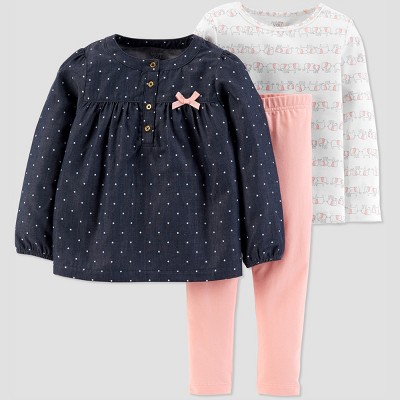 Toddler Girls' Elephant 3pc Set - Just One You® made by carter's White 2T