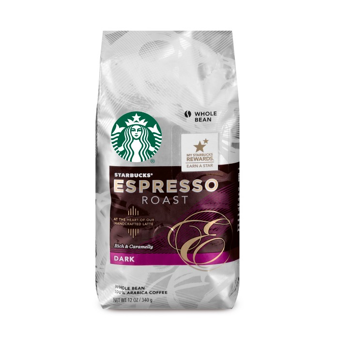 Starbucks Espresso Roast Dark Roast Whole Bean Coffee - 12oz - image 1 of 3