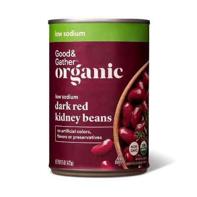 Organic Low Sodium Kidney Beans - 15oz - Good & Gather™