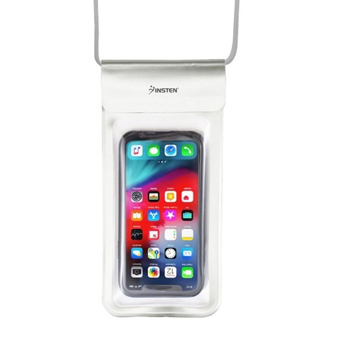 """Insten Universal IPX8 Waterproof Phone Dry Bag Pouch Case For iPhone & All Smartphones Up to 6.8"""" x 3.5"""" Silver - image 1 of 4"""