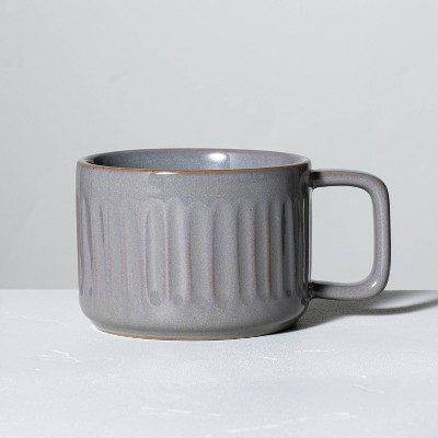 Fluted Stoneware Mug Gray - Hearth & Hand™ with Magnolia