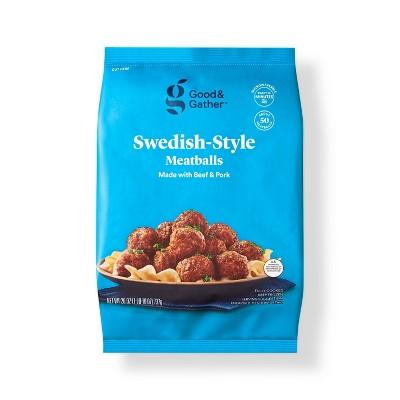 Swedish Style Beef & Pork Meatballs - Frozen - 26oz - Good & Gather™