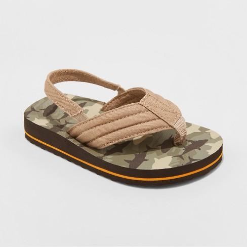 9a6a096212bc93 Toddler Boys  Henry Camo Flip Flop Sandals - Cat   Jack™ Brown   Target