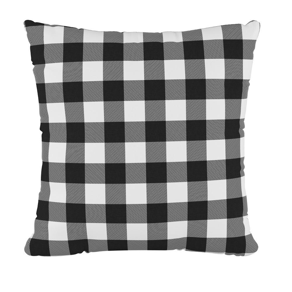 Check Square Throw Pillow Black/White - Cloth & Co.