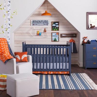 Orange Navy Arrow Nursery Room
