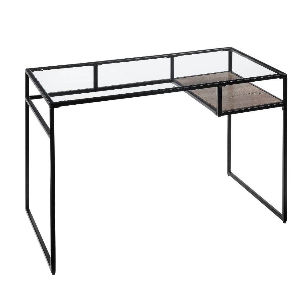 Yasin Desk Black/Glass - Acme Furniture Yasin Desk Black/Glass - Acme Furniture