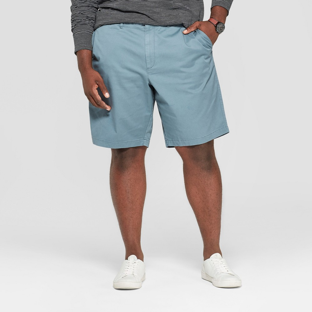 Men's Big & Tall 10.5 Flat Front Linden Chino Shorts - Goodfellow & Co Blue 54