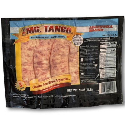 Mr. Tango Argentinian Pork Sausage - 16oz/5ct