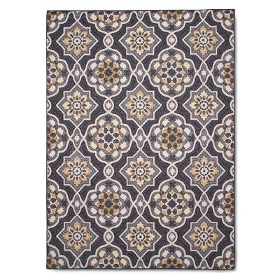 "4'X5'6"" Rowena Accent Rug Gray - Threshold™"