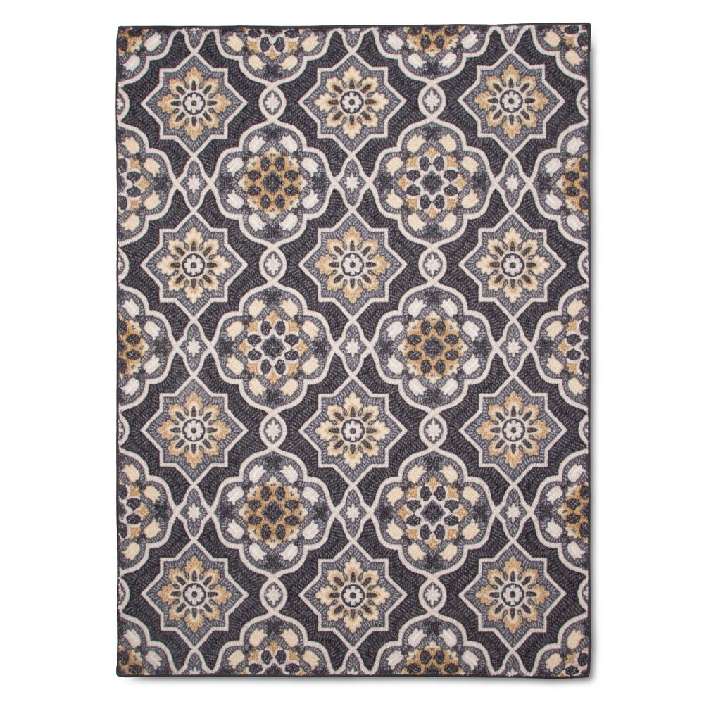Image of 4'X5'6 Maples Rugs Rowena Accent Rug, Gray