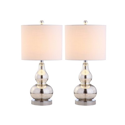 "20.5"" (Set of 2) Anya Mini Glass Table Lamps - JONATHAN Y"