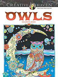 Owls Adult Coloring Book by Marjorie Sarnat