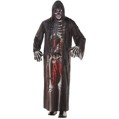 Adult Grim Reaper Photo Real Robe Halloween Costume One Size