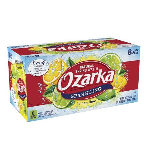 Ozarka Lemon Lime Flavored Sparkling Water - 8pk/12 fl oz Cans - image 1 of 10