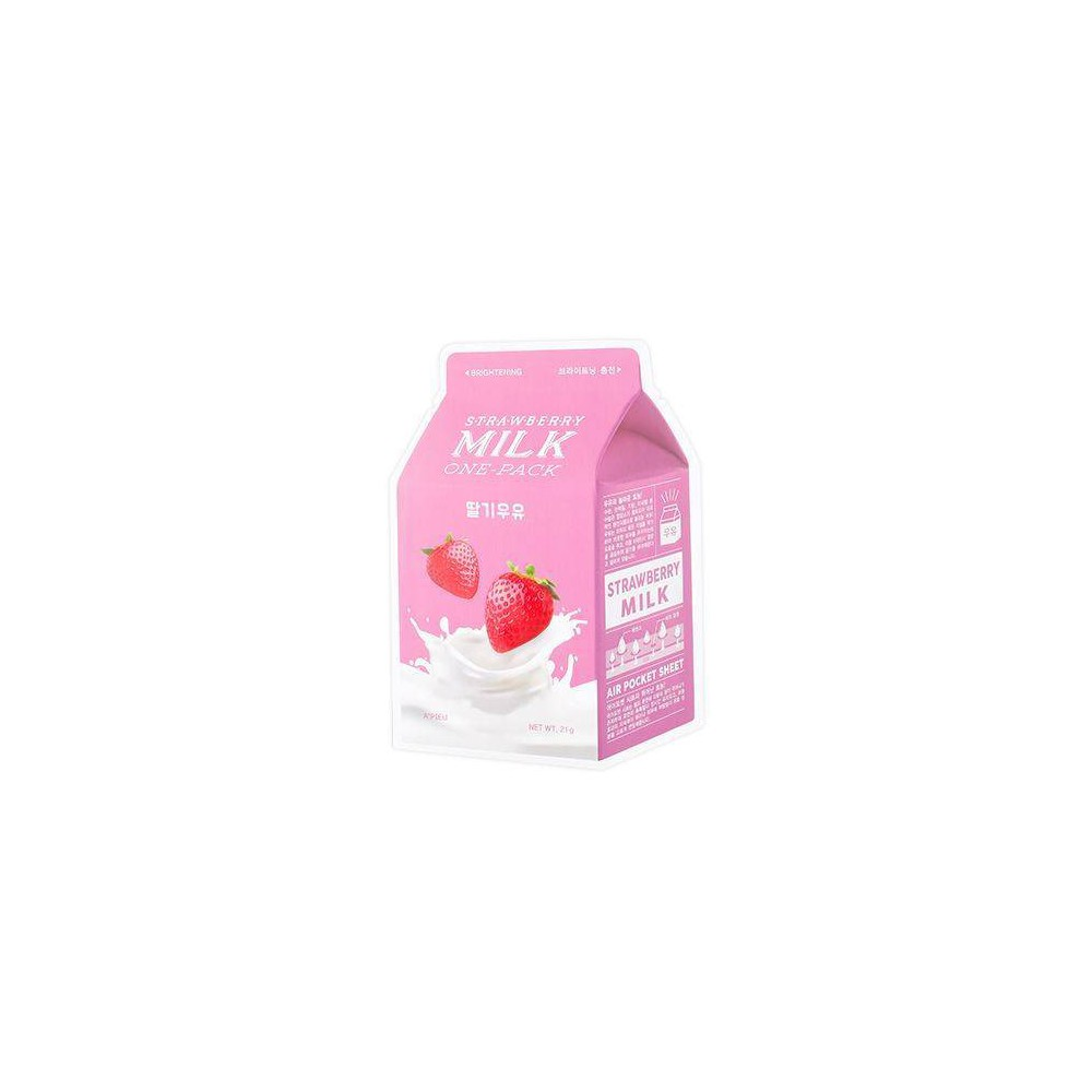 Image of A'PIEU Strawberry Milk Brightening Sheet Mask - 0.74oz