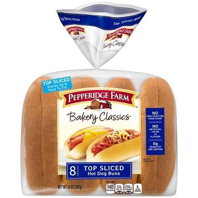 Pepperidge Farm Bakery Classics Top Sliced White Hot Dog Buns - 14oz/8ct