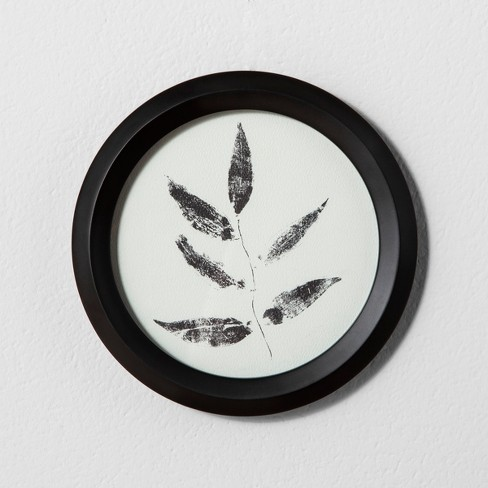 """8"""" x 8"""" Framed Wall Art Leaf - Hearth & Hand™ with Magnolia - image 1 of 2"""